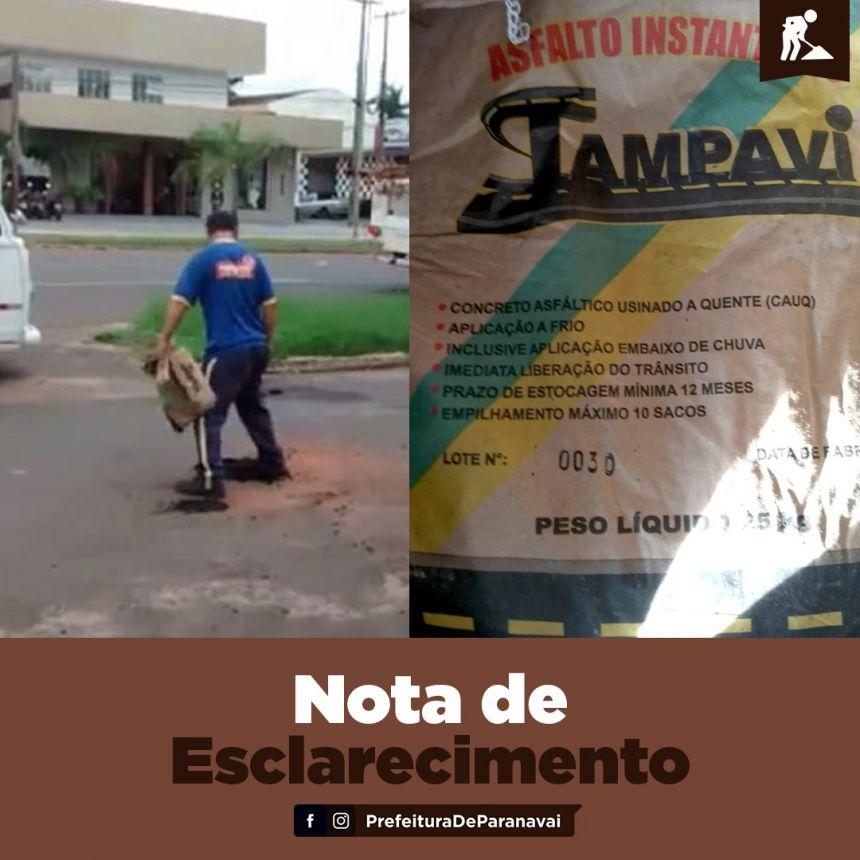 Secretário esclarece vídeo nas redes sociais sobre serviço de tapa buracos