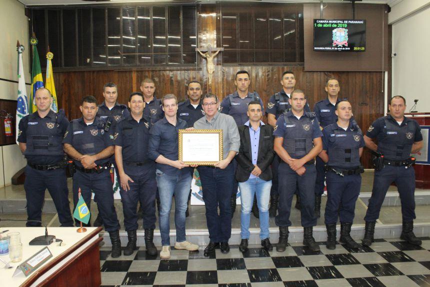 Guarda Municipal recebe Moção de Aplauso da Câmara