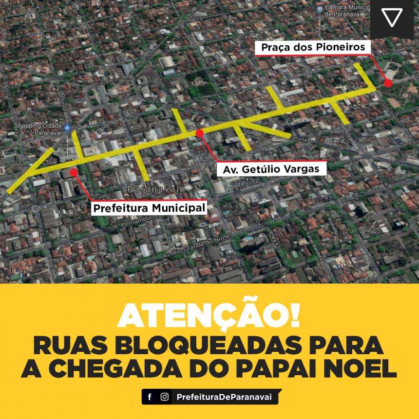 Atenção motoristas: acessos à Rua Getúlio Vargas serão bloqueados a partir das 17h nesta sexta