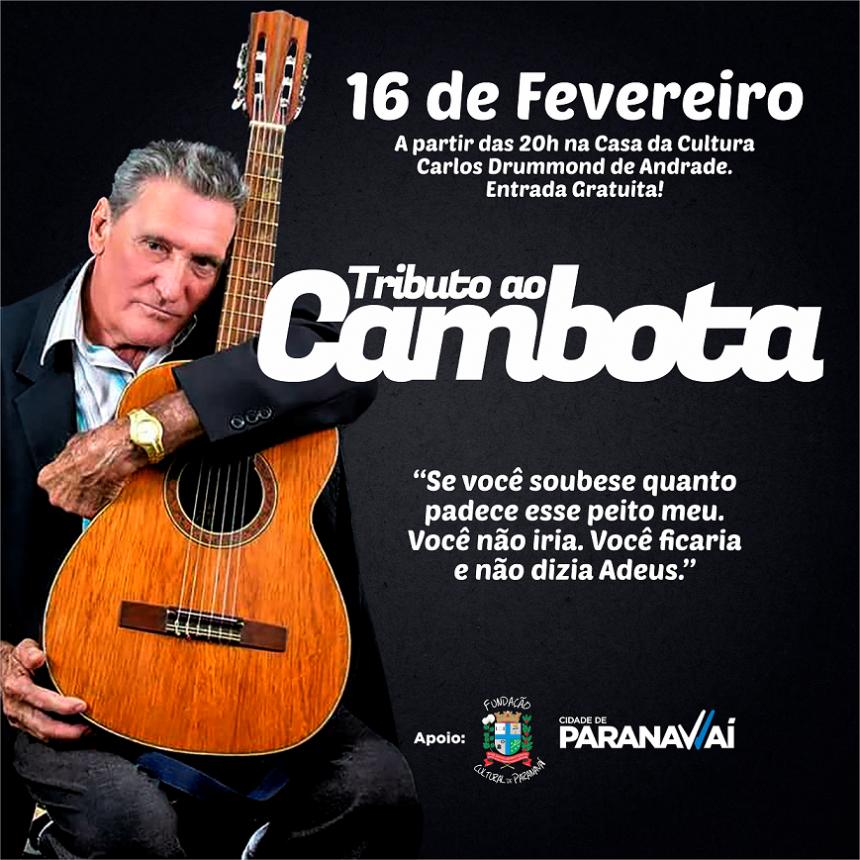 Artista paranavaiense será homenageado com Tributo no próximo dia 16