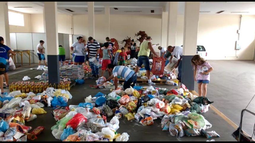 Provopar repassa as entidades assistenciais mais de três toneladas de alimentos