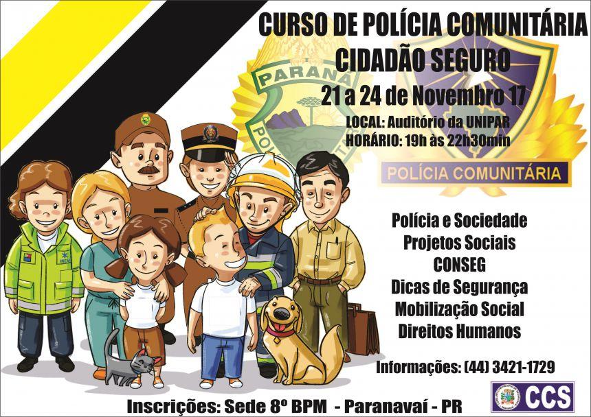 PM realiza curso gratuito de Polícia Comunitária em Paranavaí