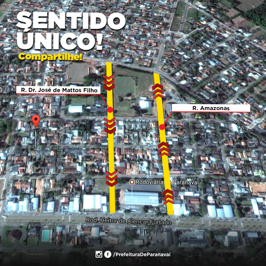 Ruas José de Matos Filho e Amazonas passam a ter sentindo único