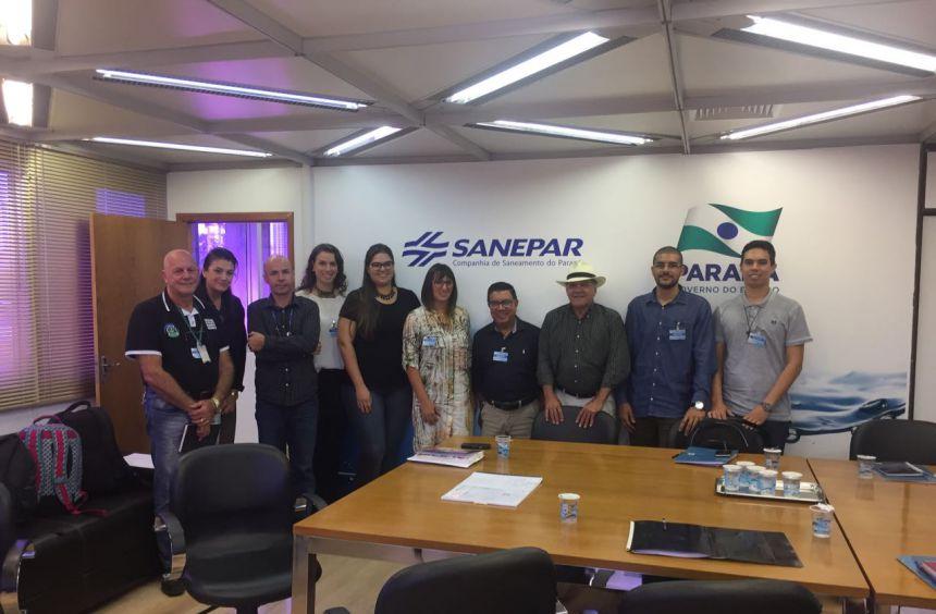 Servidores participam de reunião na Sanepar sobre o Parque Cívico