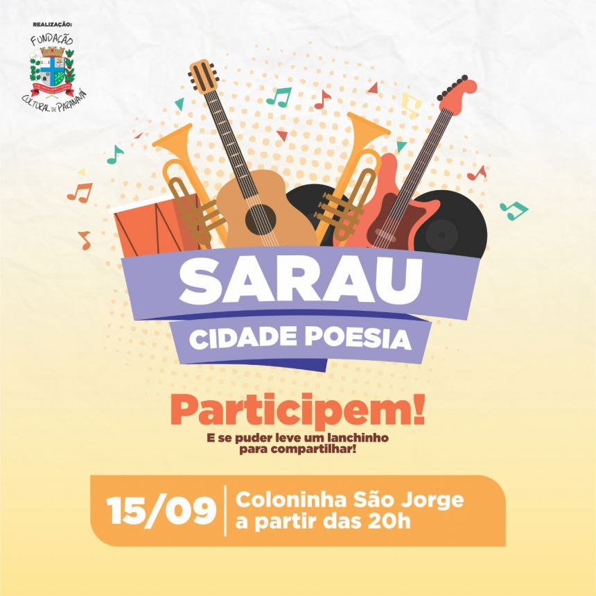 Próximo Sarau Cidade Poesia será no Jardim São Jorge