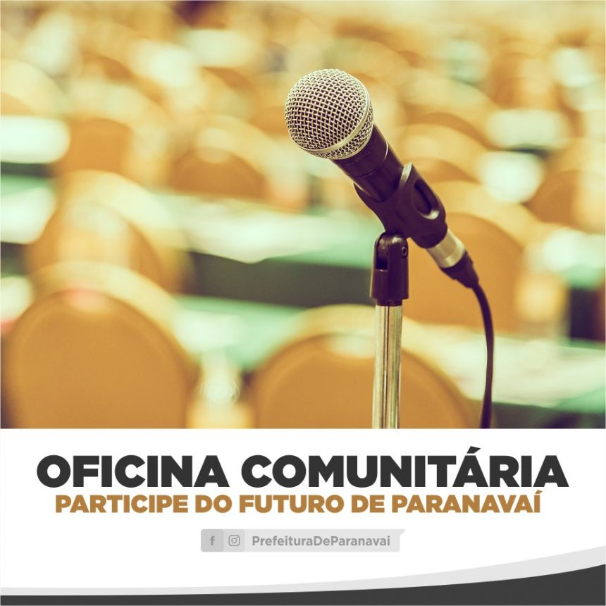 Segunda oficina comunitária para revisão do Plano Diretor será no Jardim São Jorge