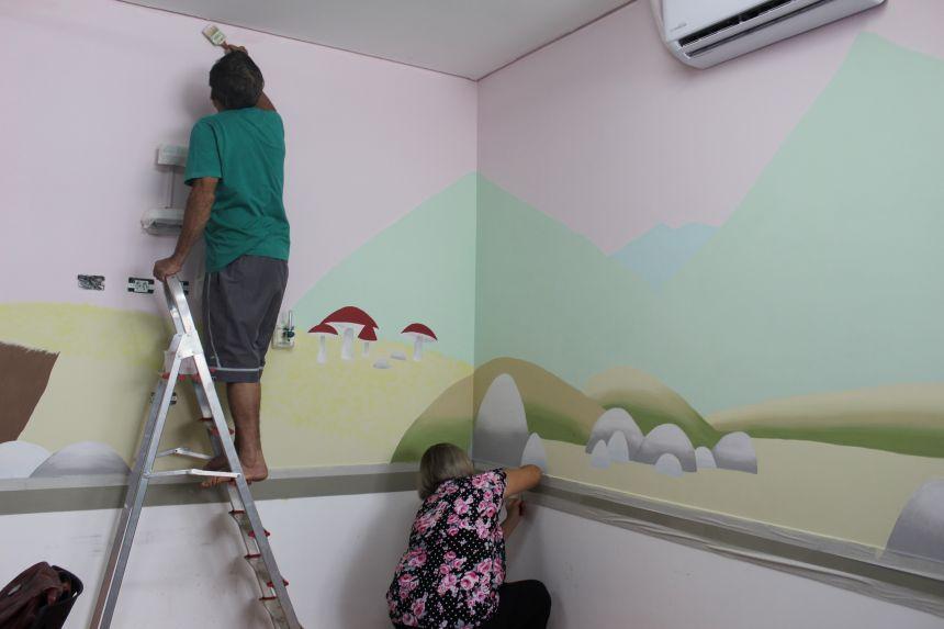 Voluntários readequam setor de Pediatria da UPA para melhorar ambiente para crianças