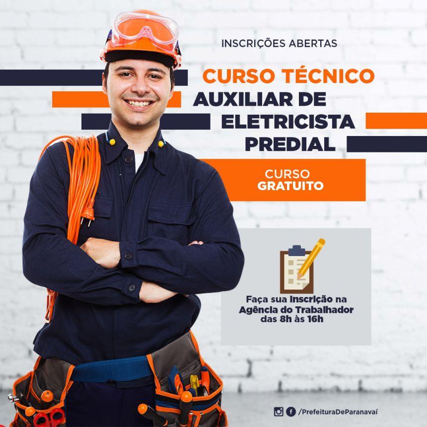 Agência do Trabalhador continua com inscrições abertas para curso de auxiliar de eletricista predial