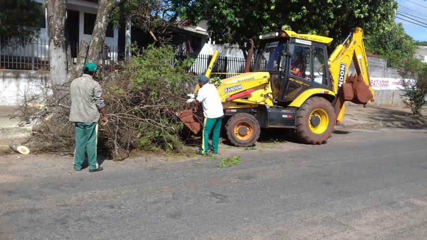 Prefeitura retirou 25 caminhões de galhos e árvores das ruas só na quinta-feira