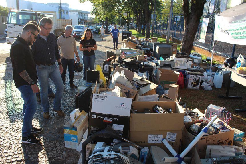 Campanha do lixo eletrônico coletou mais de 1.300 equipamentos