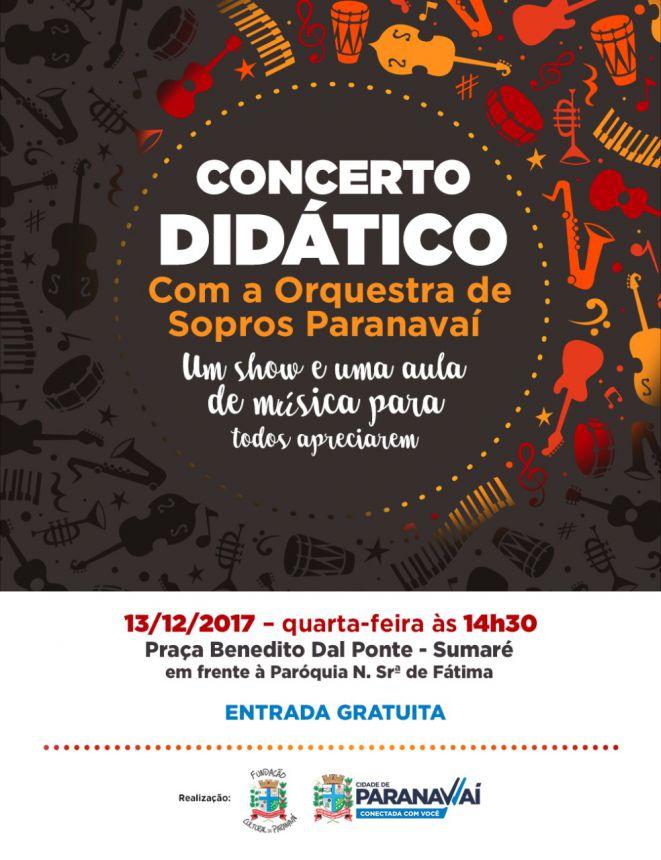 Orquestra de Sopros realiza último concerto didático do ano
