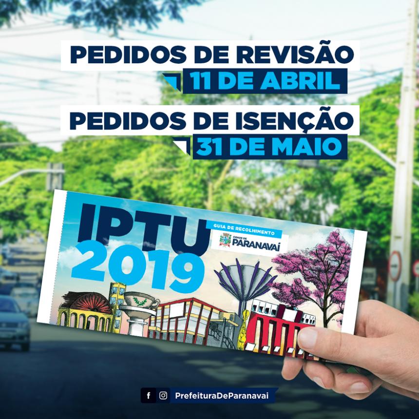 Pedidos de isenção do IPTU 2019 podem ser feitos até dia 31 de maio