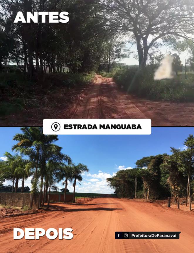 Secretaria finaliza readequação de 5 km da Estrada da Manguaba