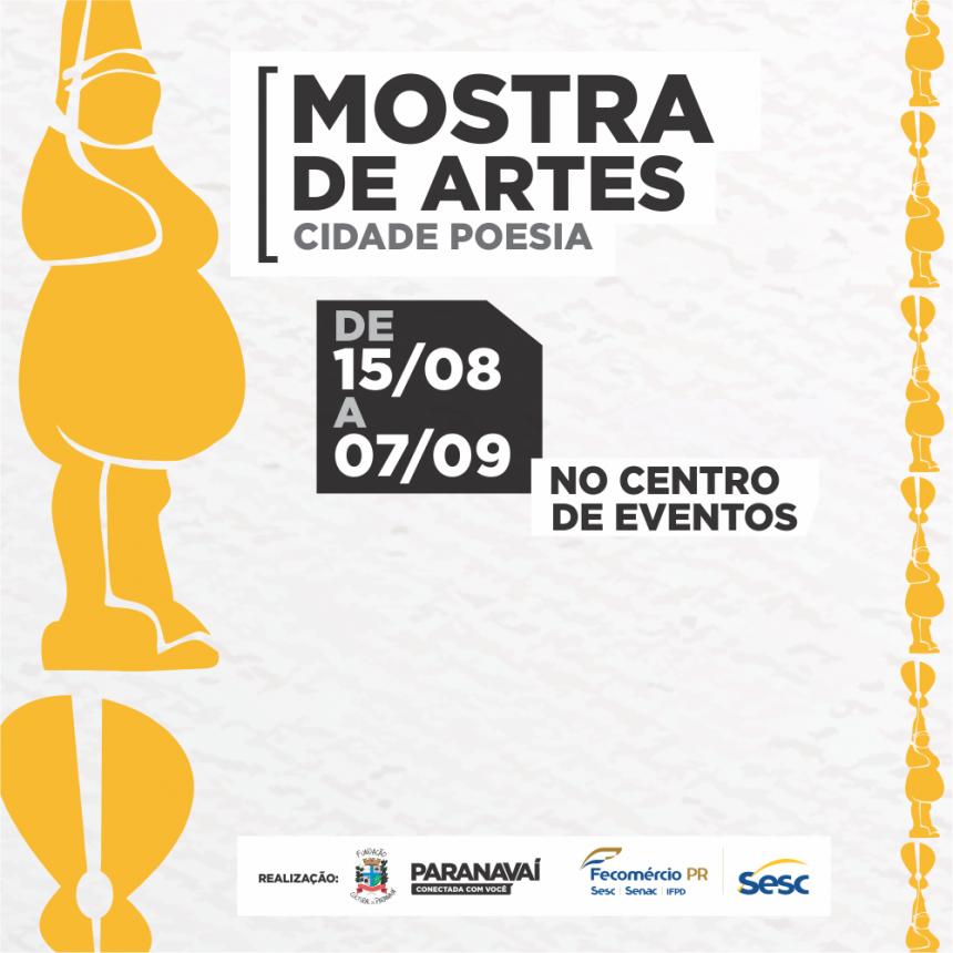 Obras de 21 artistas ficarão em exposição na Mostra de Artes Cidade Poesia até 7 de setembro