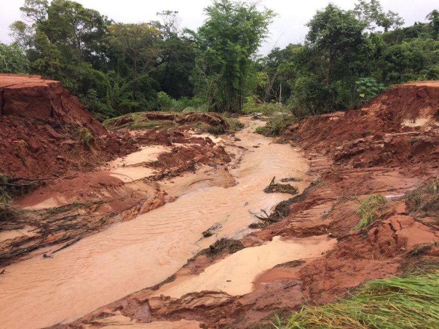 Município prevê longo trabalho para recuperar estradas atingidas pelas chuvas