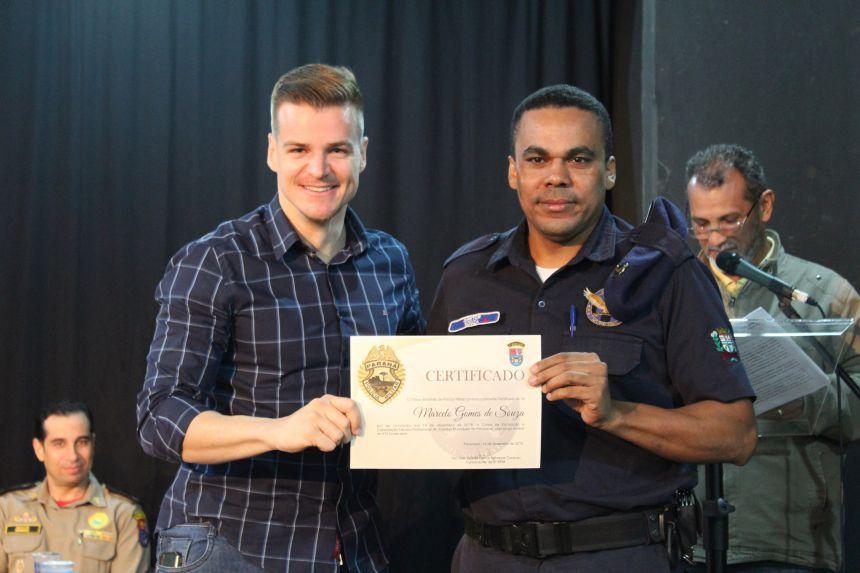 Guardas Municipais recebem Certificado de Conclusão do Curso de Formação