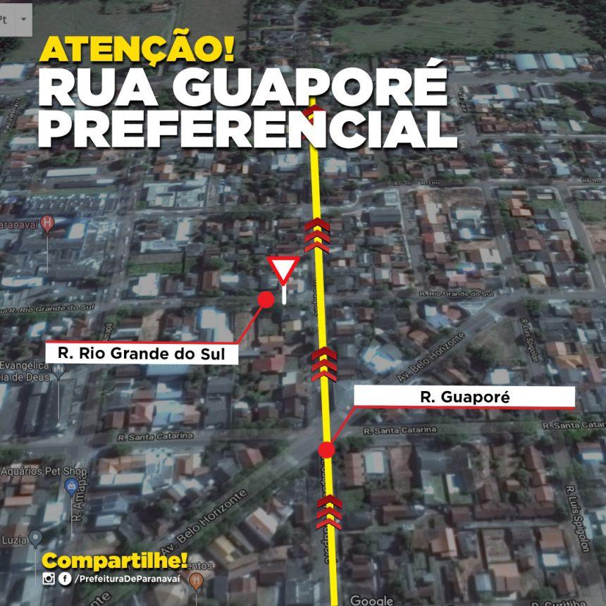 Cruzamento das ruas Guaporé e Rio Grande do Sul terá mudança de preferencial
