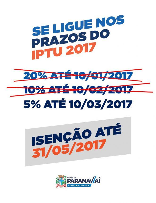 Contribuintes têm até 10 de março para pagar IPTU com 5% de desconto