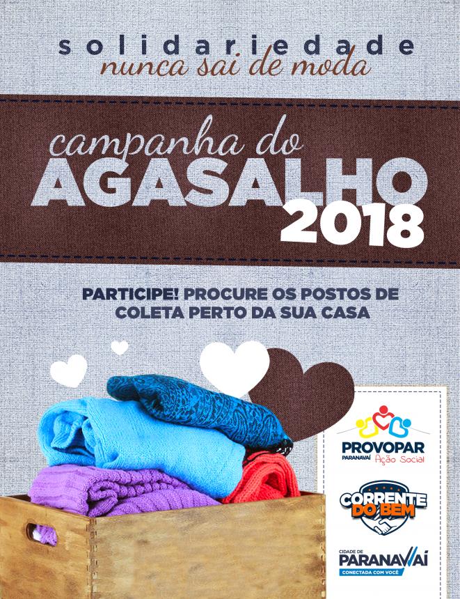 Provopar já atendeu mais de 80 famílias com roupas doadas para a Campanha do Agasalho
