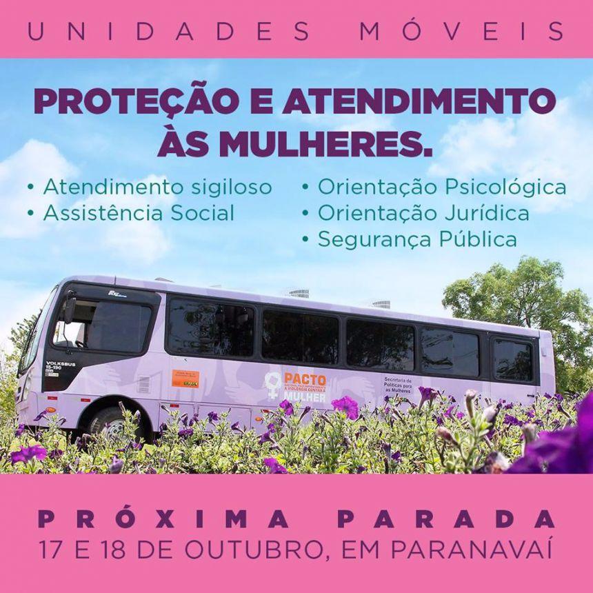 Ônibus Lilás estará em Paranavaí nesta terça e quarta