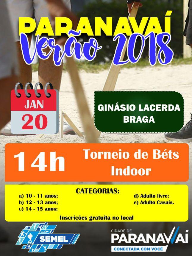 Neste sábado tem Torneio de Bets no Ginásio Lacerda Braga