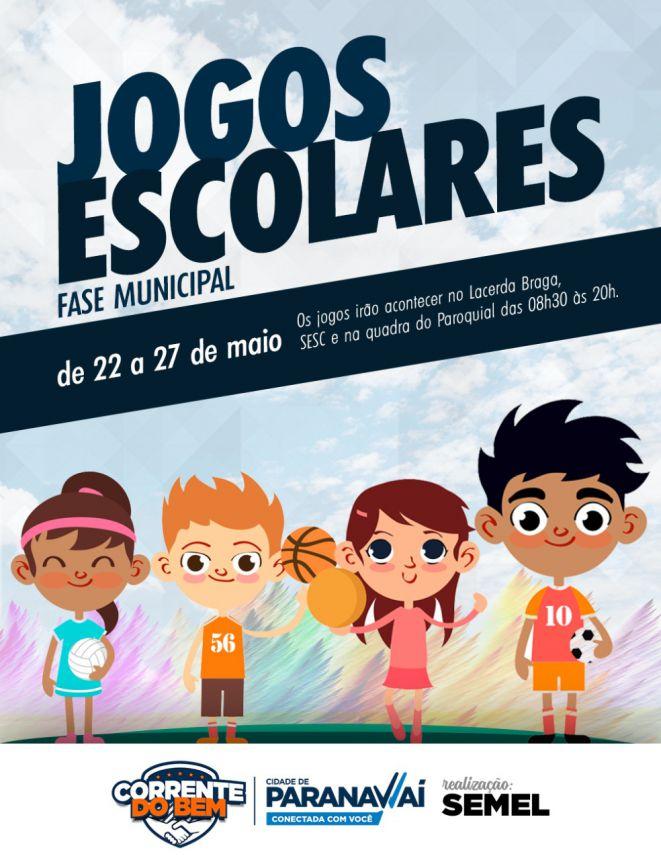 Fase municipal dos Jogos Escolares do Paraná começa na segunda
