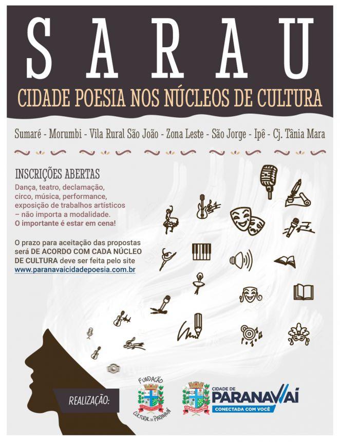 Fundação Cultural vai realizar Sarau Cidade Poesia em sete Núcleos de Cultura