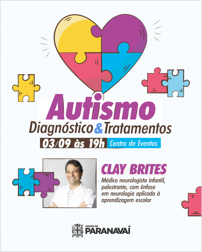 Palestra sobre autismo vai orientar pais e servidores municipais