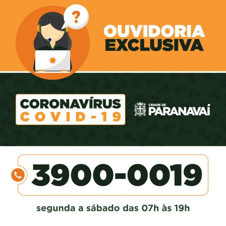 Município terá número exclusivo para tirar dúvidas sobre o novo Coronavírus