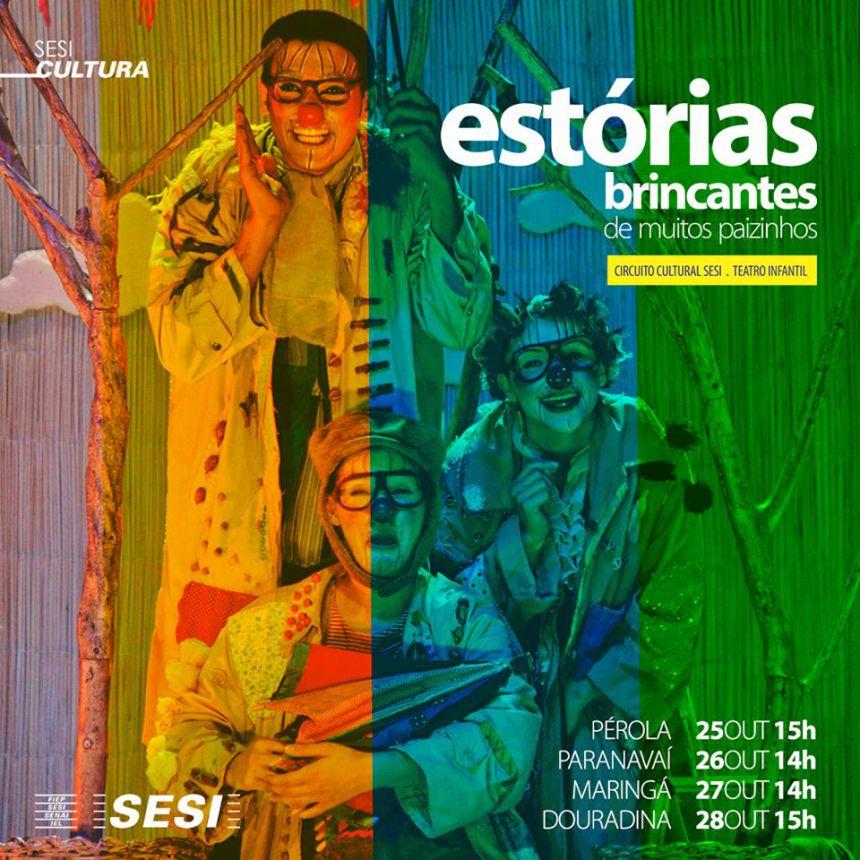 """Espetáculo """"Estórias Brincantes de Muitos Paizinhos"""" estará em Paranavaí amanhã"""