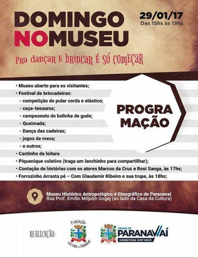 Domingo no Museu terá atividades gratuitas para todas as idades