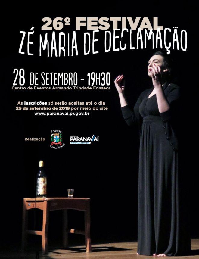 Inscrições para o 26º Festival Zé Maria vão até 25 de setembro