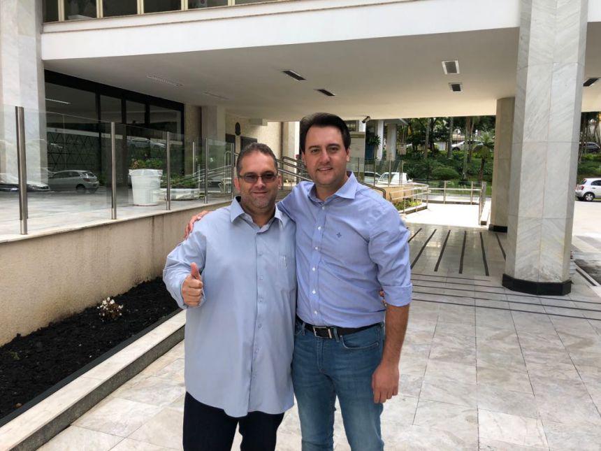 Ratinho Junior e Alessandro Ribeiro